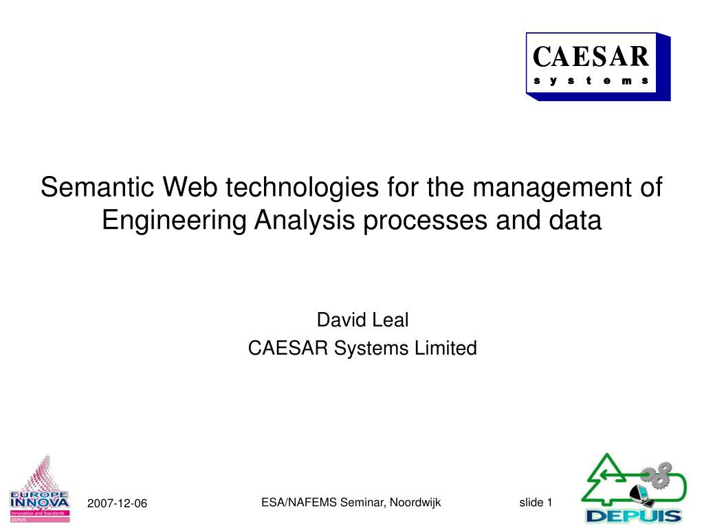 semantic web technologies for the management of engineering analysis processes and data l.