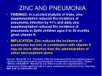 zinc and pneumonia