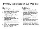 primary tools used in our web site