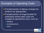 examples of operating costs35