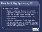 handbook highlights pg 12