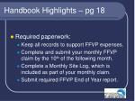 handbook highlights pg 18