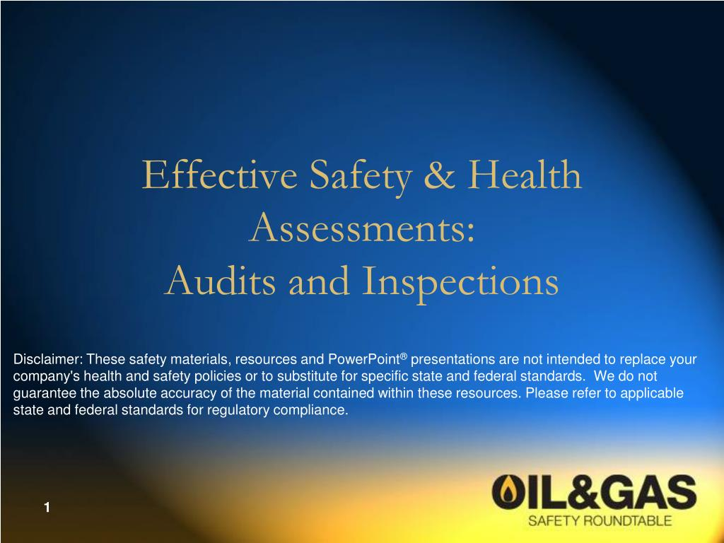 effective safety health assessments audits and inspections l.