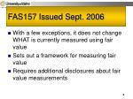 fas157 issued sept 2006