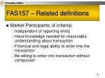 fas157 related definitions