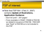fsp of interest