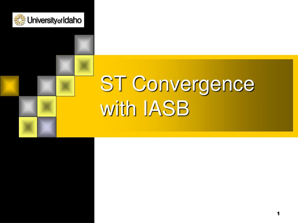 st convergence with iasb l.