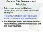 general site development principles