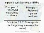 implemented stormwater bmps43