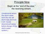 principle nine