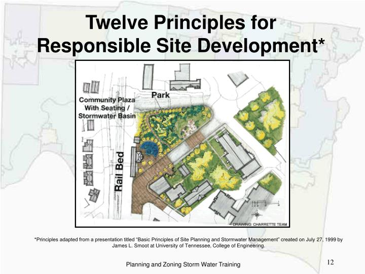PPT Storm Water Management and Development Site Planning – Site Planning Principles