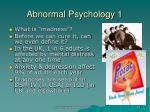 abnormal psychology 1