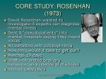 core study rosenhan 1973