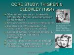 core study thigpen cleckley 1954
