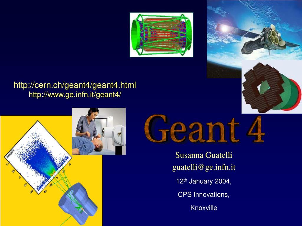 http cern ch geant4 geant4 html http www ge infn it geant4 l.