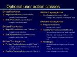 optional user action classes63