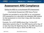 assessment ard compliance