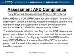 assessment ard compliance15