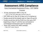 assessment ard compliance16