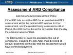 assessment ard compliance17