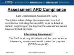 assessment ard compliance18