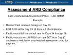 assessment ard compliance19