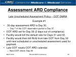 assessment ard compliance20
