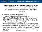 assessment ard compliance21
