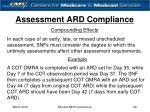 assessment ard compliance26