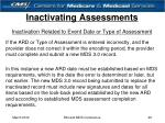 inactivating assessments29