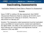 inactivating assessments30