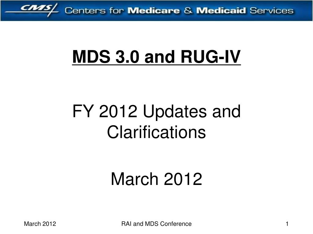 mds 3 0 and rug iv l.