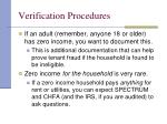 verification procedures38