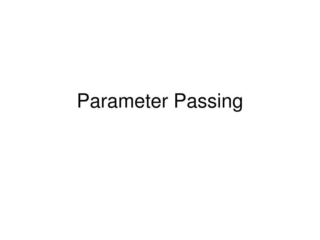 parameter passing l.