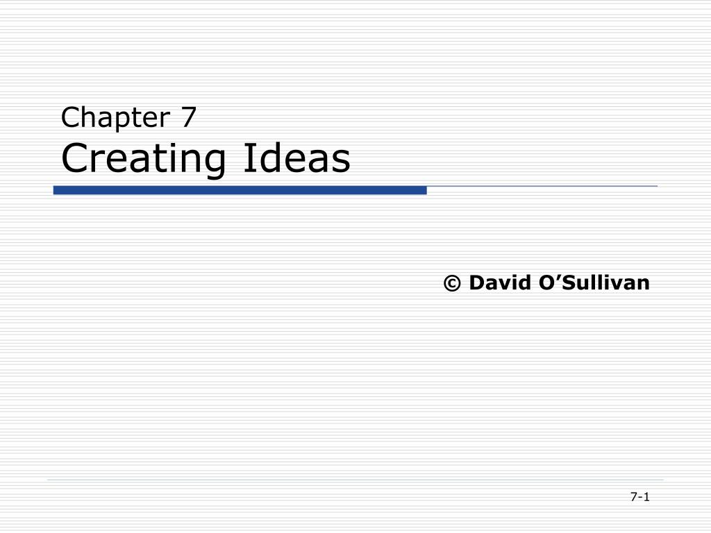 chapter 7 creating ideas l.