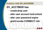 problem with dv acctmgr