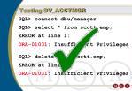 testing dv acctmgr101