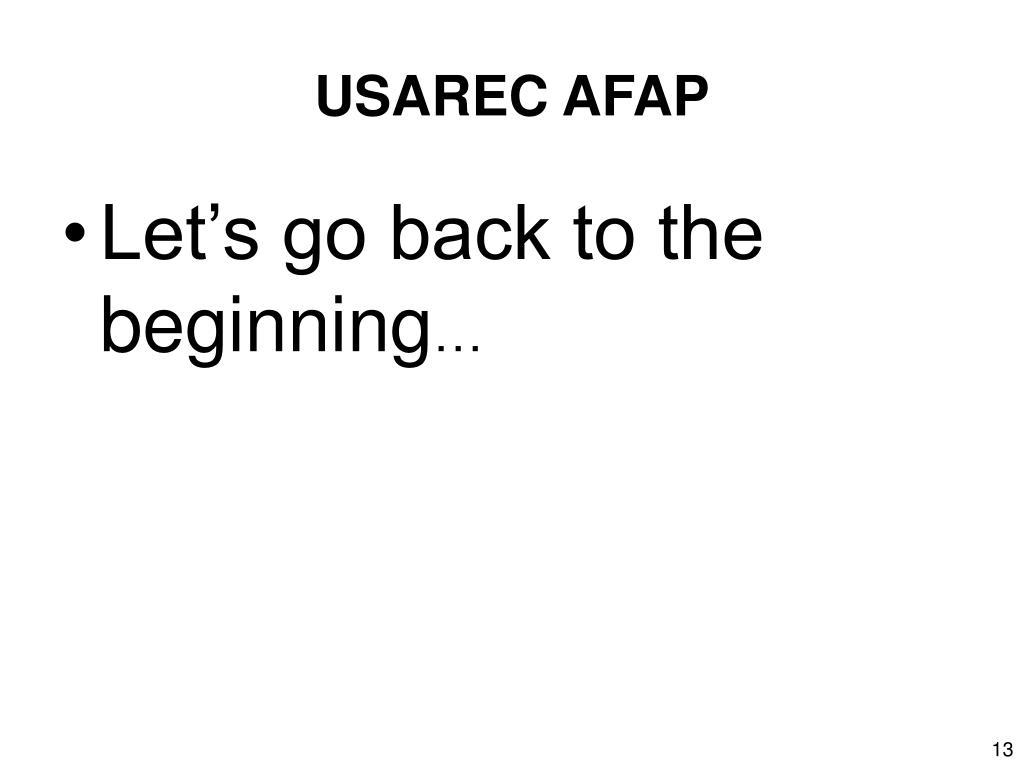 USAREC AFAP