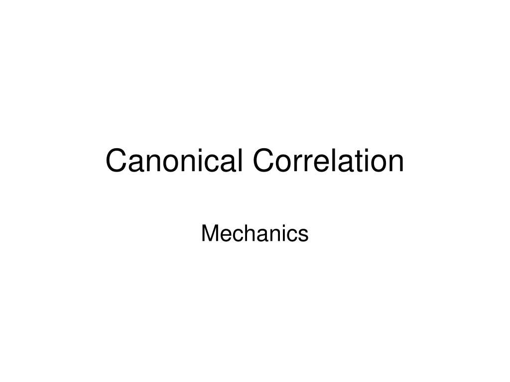 canonical correlation l.