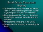 small group discussion themes