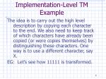 implementation level tm example