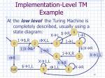 implementation level tm example12