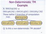 non deterministic tm example18