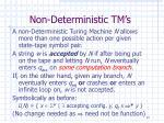 non deterministic tm s