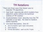 tm notations