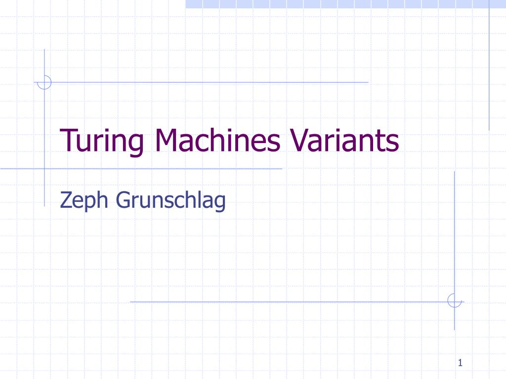 turing machines variants l.