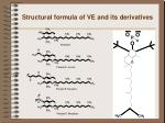structural formula of ve and its derivatives