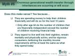 enormous generational wealth transfer through inheritances are occurring or will occur24