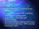 instinctual drives