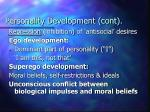 personality development cont